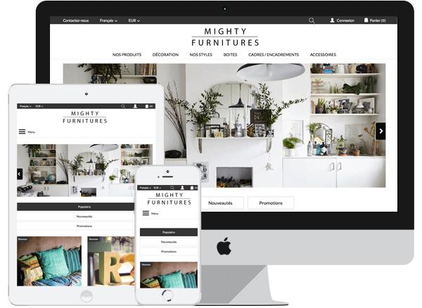 Template Mighty Furnitures – PrestaShop 1.6